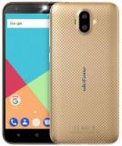 Telefon mobil Ulefone S7 PLUS, Procesor Quad-Core 1.3GHz, IPS 5inch, 2GB RAM, 16GB Flash, Camera Duala 8MP+5MP, Wi-Fi, 3G, Dual Sim, Android (Auriu)