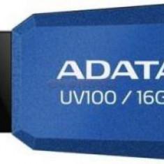 Stick USB A-DATA UV100 Slim Bevelled 16GB (Albastru)