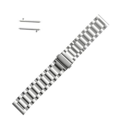 Curea metalica argintie pentru Samsung Gear S2 / Galaxy Watch 42mm / Huawei Watch W2 Sport / Moto 2nd gen 42mm foto