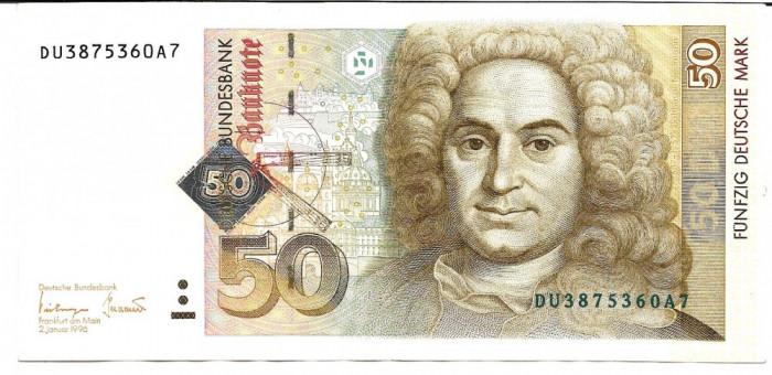 !!! GERMANIA  - 50  MARCI  1996  -  P 45  -  AUNC / CEA  DIN  SCAN