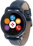 Smartwatch MyKronoz ZeCircle 2 Swarovski, TFT Capacitive touchscreen, Bluetooth, Bratara Piele, Rezistent la apa si praf (Negru)