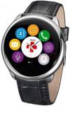 Smartwatch MyKronoz ZeRound Premium, Ecran Touchscreen TFT 1.22inch, Bluetooth (Negru/Argintiu)