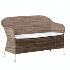 Canapea din rattan Athene Grey - Mobila Rattan