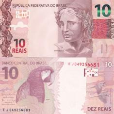Brazilia 10 Reais 2017 UNC - bancnota america