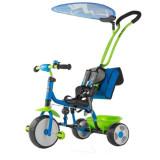 Tricicleta pentru copii Boby Deluxe Blue-Green, Milly Mally