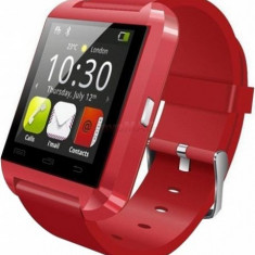 Smartwatch Tellur U8 Watch, LCD 1.44inch, Procesor 360MHz, 32MB RAM, Bluetooth (Rosu)