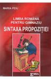 Sintaxa propozitiei. Limba romana pentru gimnaziu - Maria Peiu