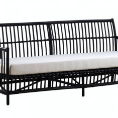 Canapea din rattan Caroline Black - Mobila Rattan
