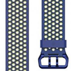 Curea de schimb Fitbit FB164SBBUL, pentru Fitbit Ionic, Marimea L (Albastru/Galben)
