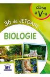 36 de jetoane - Biologie - Clasa 5