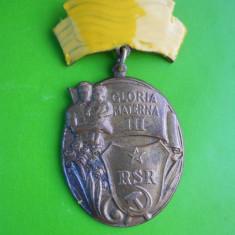 HOPCT ORDINUL MEDALIA GLORIA MATERNA CL III RSR-STAREA CARE SE VEDE !!! - Medalii Romania