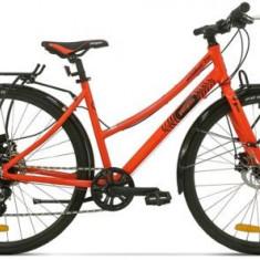 Bicicleta Pegas Hoinar2 8S, Cadru 18inch, Roti 28inch, 8 Viteze (Portocaliu) - Bicicleta Dama