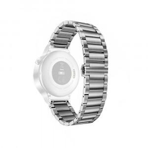 Curea metalica argintie pentru Huawei Watch W1 cu prindere tip fluture