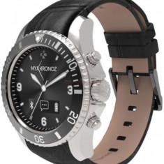 Smartwatch MyKronoz ZeClock Premium, OLED, Bluetooth, Rezistent la apa si praf (Negru/Argintiu)