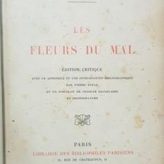 CHARLES BAUDELAIRE, LES FLEURS DE MAL, PARIS 1917