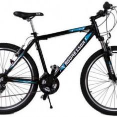 Bicicleta Omega Aggressor, Roti 26inch, 21 viteze (Negru/Albastru) - Bicicleta de oras