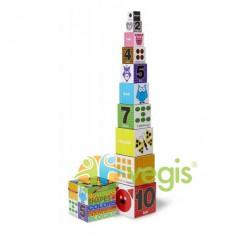 Piramida numere, forme si culori 2 ani+ Melissa and Doug