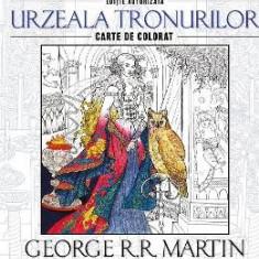 Urzeala tronurilor - George R.R. Martin - Carte de colorat