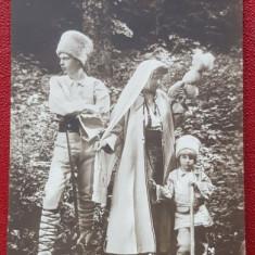 A.S.R. PRINTESA ( REGINA ) MARIA CU PRINTUL CAROL SI PRINTUL NICOLAE - CARTE POSTALA FOTO - Harta Europei