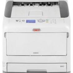 Imprimanta laser color OKI C843dn, A3, 35ppm, Duplex, Retea, Wireless (Alb)