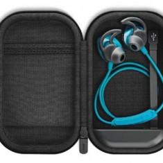 Casti Alergare BOSE SoundSport Wireless cu carcasa incarcare (Albastru)