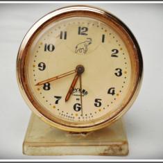CEAS DE MASĂ DEȘTEPTĂTOR RUSESC SOVIETIC - MARCA DRUJBA / DRUZBA - FUNCȚIONAL! - Ceas de masa