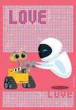 Covor Disney Kids Wall-E Love, Imprimat Digital