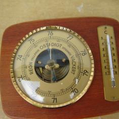 Barometru mecanic + termometru - Statie meteo
