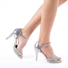 Sandale dama Bety argintii