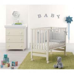 Patut bebe atasabil Next to You alb cu saltea 117x62, 5cm - Pat tematic pentru copii