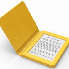E-Book Reader Bookeen SAGA, Ecran Multi-touch capacitive touchscreen E-Ink 6inch, Procesor 1GHz, 8GB Flash, Wi-Fi + Husa silicon inclusa (Galben)