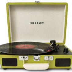 Pick-up portabil Crosley Cruiser CR8005A, Difuzoare stereo incorporate 2 x 3 W (Verde) - Pickup audio