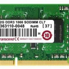 Memorie Laptop Transcend TS256MSK64V1N DDR3, 1x2GB, 1066MHz, CL7, 1.5V - Memorie RAM laptop