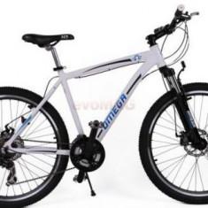 Bicicleta Omega Hawk, Roti 26inch, 21 viteze (Alb)
