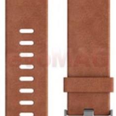 Curea de schimb pentru Fitbit Charge 2, Piele, Small (Maro)