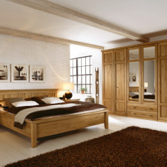 Set Mobila Dormitor din lemn masiv si furnir Piano - Dormitor complet