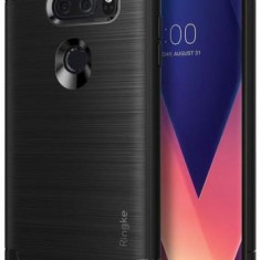 Protectie Spate Ringke Onyx pentru LG V30 (Negru) - Husa Telefon
