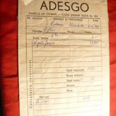 Plic  cu Antet - Adesgo - 1975 -Fabrica de ciorapi