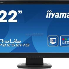 Monitor TN iiyama 21.5inch ProLite P2252HS-B1, Full HD, DVI-D, HDMI, 5ms, Boxe (Negru), 21.5 inch