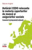 Hotarari CEDO relevante in materia raporturilor de munca si asigurarilor sociale - Razvan Anghel