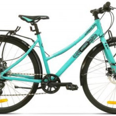 Bicicleta Pegas Hoinar2 8S, Cadru 18inch, Roti 28inch, 8 Viteze (Turcoaz) - Bicicleta Dama