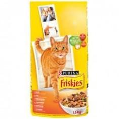Friskies Dry 1.5 kg Pui&Ficat - Hrana pisici