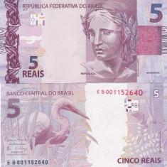 Brazilia 5 Reais 2017 UNC - bancnota america