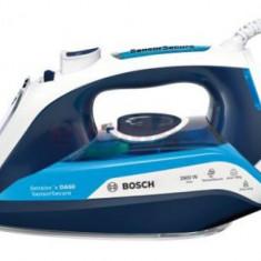 Fier de calcat cu aburi Bosch TDA5029210, Talpa Ceranium-Glisse, 2900W, 0.35l (Alb-Albastru)