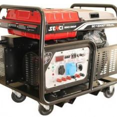 Generator Curent Electric Senci SC13000TEQ, 12000W, 400/230V, AVR si ATS inclus, Motor benzina, Demaraj electric