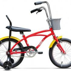 Bicicleta Pegas Mezin 1S, Cadru 9inch, Roti 16inch (Rosu) - Bicicleta copii