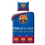 Lenjerie de pat copii Cotton FC Barcelona FCB-8010BL