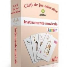 Instrumente muzicale - Carti de joc educative - Carte educativa