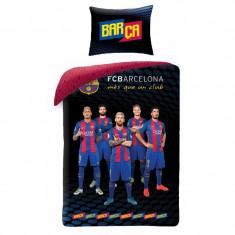 Lenjerie de pat copii Cotton FC Barcelona FCB-8014BL