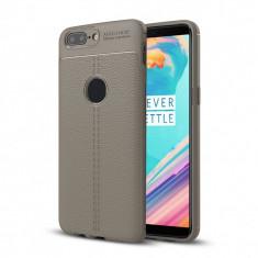 Husa OnePlus 5T - Tpu Grain - Husa Telefon OnePlus, Universala, Gri, Gel TPU